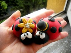 lady bugs fimo sculpey polymer clay