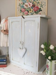 Antique painted cupboard from Lavender House Vintage #vintage#antique#paintedfurniture#cottage#interiors#home