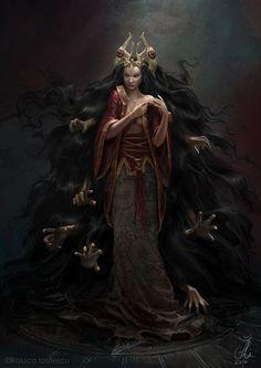 Necromancer (1), Raluca Iosifescu on ArtStation at https://www.artstation.com/artwork/necromancer-1