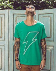 camiseta verde masculina lab77
