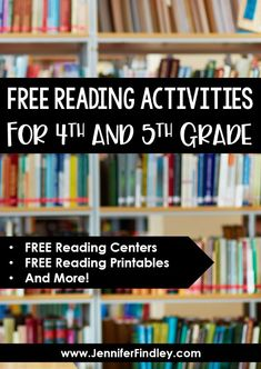 FREE reading activities for and grade! Need reading resources to supplement your reading instruction? Click through to get several FREE and grade reading activities and centers. Cloze Reading, Reading Homework, Reading Comprehension Skills, 5th Grade Reading, Reading Centers, Student Reading, Reading Skills, Reading Workshop, Literacy Strategies