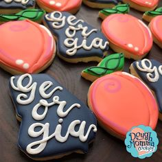 Peach Cookies, Royal Icing Cookies, Sugar Cookies, Bachelorette Party Cookies, Goodbye Party, Girls Trips, Peach Party, The Giant Peach, Tumblr Food
