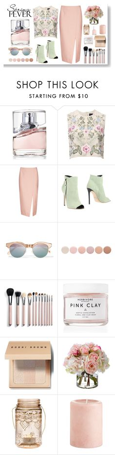 """Spring Scent"" by going-under ❤ liked on Polyvore featuring beauty, HUGO, Needle & Thread, C/MEO COLLECTIVE, Grey Mer, Le Specs, Deborah Lippmann, Herbivore Botanicals, Bobbi Brown Cosmetics and Diane James"