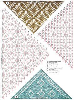 Crochet and arts: Shwals by spider stitch Crochet Bolero, Poncho Au Crochet, Crochet Shawls And Wraps, Crochet Diagram, Crochet Chart, Crochet Scarves, Crochet Motif, Irish Crochet, Crochet Clothes