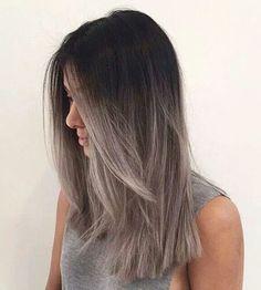 Imagen de hair, ombre, and grey
