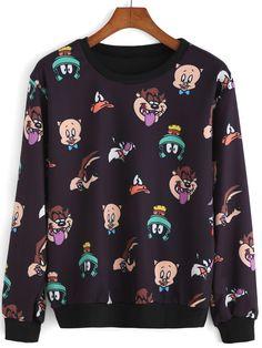 Shop Round Neck Animal Print Sweatshirt at ROMWE, discover more fashion styles online. Fall Fashion Outfits, Stylish Outfits, Kids Fashion, Cool Outfits, Stylish Toddler Girl, Pajama Outfits, Printed Sweatshirts, Hoodies, Cool Sweaters