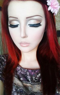 Girl makeup little doll