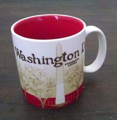 Starbucks Collector Series Washington DC Coffee Mug Icon City Mug Red 2012 16 Oz #Starbucks