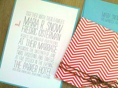 I love simple invitations like this.