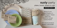 Sustainable Party Supplies | Susty Party Great site! Fabulous sustainable products!