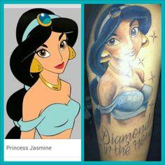 Princesses tattoos disney Jasmine