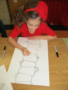 Art Julz: Miss Spider's Tea Party & Mary Cassatt 3rd grade art project idea