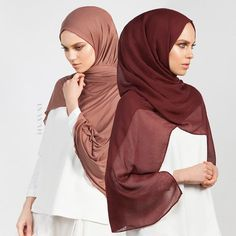 INAYAH | Shades to complement any skin tone and work with a multitude of looks. Hazelnut Tencel Hijab Rust Modal Hijab www.inayah.co