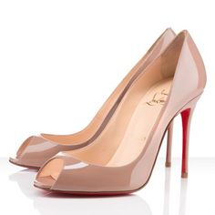 Christian Louboutin Sexy 100mm Patent Leather Nude