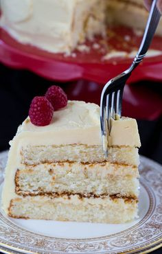 White Cake with Jack Daniel's Buttercream