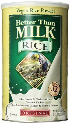 Better Than Milk Vegan Rice Powder Gluten Free Original 21 4 Oz Vanilla Milk, Powdered Milk, Vanilla Flavoring, Baby Food Recipes, Gourmet Recipes, Soy Milk Powder, Soya Drink, Soy Products, Rice Milk