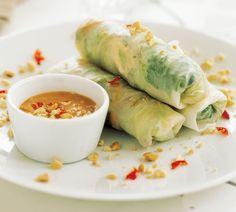 Annabel Langbein Chicken and Mint Salad Rolls Recipe