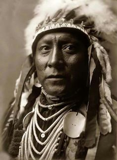 Old White Man, a Crow Indian. It was taken in 1908 by Edward S. Curtis