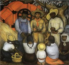Diego Rivera - a famous Mexican painter, was also a political activist and husband of Frida Kahlo. Rivera was a key figure in establishing the Mexican Mural Renaissance with his frescoes. Diego Rivera Art, Diego Rivera Frida Kahlo, Frida And Diego, Famous Mexican Painters, Mexican Artists, Clemente Orozco, Statues, Mural Painting, Canvas Paintings