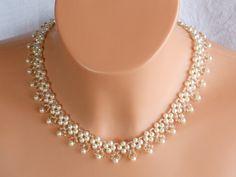 Joyas y bisutería de novia - collar nupcial de cristal swarovski, novia collar…