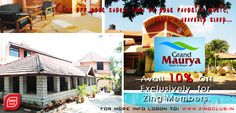 Avail 10% Off Exclusively for Zing Members at Grand Maurya Resort..Mysor