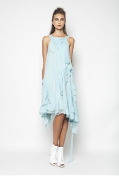CHRISTOS COSTARELLOS SS12 Silk Chiffon Midi Dress Christos Costarellos, Silk Chiffon, Womens Fashion, Style Fashion, Ready To Wear, Elegance Style, Spring Summer, Couture, Elegant