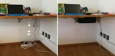 CableBox is a cable organizer that hides messy, loose, tangled cables under the desk, next to the computer, or behind the TV. Works with most surge protectors.