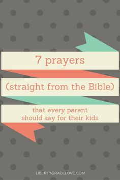 7 Prayers (straight from the Bible) that EVERY parent should say for their kids, Praying for your kids, Biblical prayers, Scriptural prayers for your family Praying For Your Children, Prayers For Children, Prayer Verses, Bible Verses, Scriptures, Prayer For You, Parents Prayer, Christian Resources, Six Month