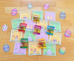 Grußkärtchen für die Osterferien School Holidays, Teaching English, Happy Easter, Alice, Education, Games, Anna, Gift Ideas, Paper