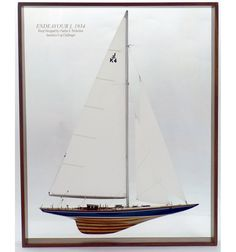 America's Cup Challenger Endeavour I 1934 Half Hull Model