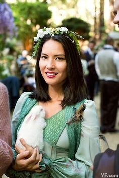 Tolkien-esque themed celebrity wedding of Sean Parker pictures from Vanity Fair. My question is did she bring a bunny to the wedding or did they hand out bunnies as favors? Just something to think about.