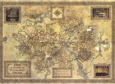The Fellowship path through Moria