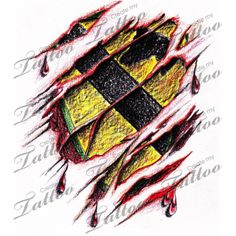 The Cav Patch. During the Gulf war in 1991 I became a Tanker Cav armor division. This is a popular Tattoo. Skin Tear Tattoo, Ripped Skin Tattoo, Storm Tattoo, War Tattoo, Create My Tattoo, Tattoo Ideas, Tattoo Designs, Tattoo Stencils, Anubis