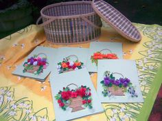 folwers on light green in2 the basket