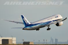Aviation Photo Boeing Dreamliner - All Nippon Airways - ANA Boeing 787 Dreamliner, Boeing 787 8, Ana Airlines, Airplanes, Aircraft, Planes, Tecnologia, Life, Aviation