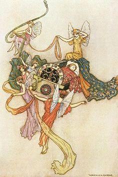 Ilustración de Warwick Goble: La Gata Blanca                              …