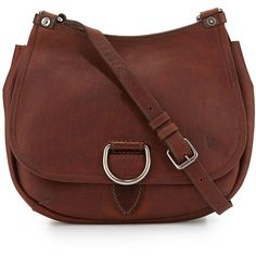 Frye Amy Leather Flap Crossbody Bag (£220) ❤ liked on Polyvore featuring bags, handbags, shoulder bags, red, red leather purse, crossbody handbags, crossbody shoulder bags, leather shoulder bag and leather purse