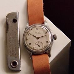This Tissot 1944 is up for sale by @sammill.s it was originally issued to a member of the British civil service in India... Quality Watches, Civil Service, British, India, Leather, Accessories, Goa India, Indie, Indian