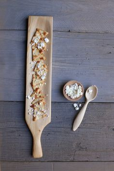 164. Handmade wooden cracker tray with handle
