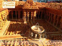 maqueta patio de los leones reproducción alhambra de granada gofres seduzione marketing original grupo axfito taller de maquetas en granada