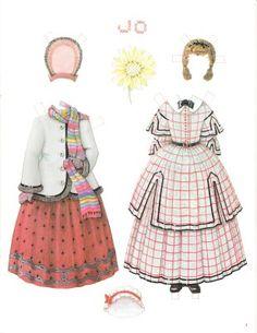 Little Women paper dolls, convention souvenir set