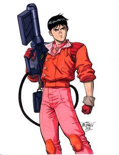 Kaneda - Akira by Scott Dalrymple Storyboard, Tim Burton Art Style, Akira Pill, Shotaro Kaneda, Ken Street Fighter, Akira Kaneda, Akira Anime, Character Art, Character Design
