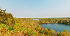 As the trek moves east,  be sure to take a look at Mine Lake in Cuyuna County State Recreation Area. This former iron mine turned lake provides a different take on Minnesota Lake Life.