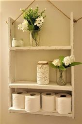 New Bathroom Shelves Rustic Storage Ideas Solid Wood Shelves, Wooden Shelves, Wooden Slats, Farmhouse Bathroom Accessories, Wood Mug, Regal Design, Bathroom Shelves, Bathroom Ideas, Bathroom Showers