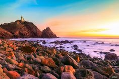 Sunset on the Cabo de Gata - Sunset on the coast of the natural park of Cabo de Gata, Almeria-Spain