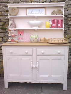 Ercol Welsh dresser originally in dark oakgiven a Shabby Chic makeover rubbed downgiven a pastel &; Ercol Welsh dresser originally in dark oakgiven a Shabby Chic makeover rubbed downgiven a pastel &; pipa khadivi pipakhadivi home […] Salvaged Furniture, Furniture Sale, Shabby Chic Furniture, Kids Furniture, Painted Furniture, Furniture Design, Furniture Projects, Shabby Chic Pink, Shabby Chic Homes