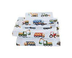 Toddler Bed Sheet Sets, Twin Sheet Sets, Kids Beds For Boys, Kid Beds, Twin Bed Sheets, Bed In A Bag, Kids Zone, Elegant Homes, Kids Construction