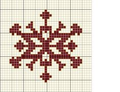 Snowflake pattern cross stitch / Copo de nieve patron punto de cruz