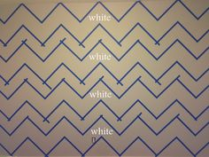 Life As Always: Live & Learn -- How To Paint Chevron Stripes