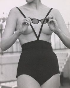 Model in Rudy Geinrich swimsuit (the Monokini), 1964. Photo by Kenn Duncan.